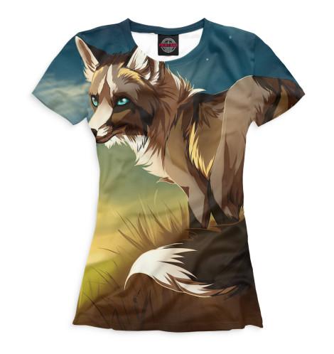 Женская футболка Лисы