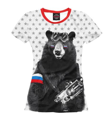 Футболка Print Bar Армейский медведь