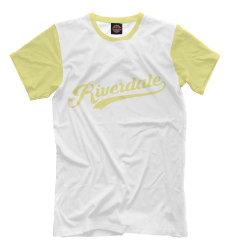 Фото - Мужская футболка Ривердейл от Print Bar белого цвета