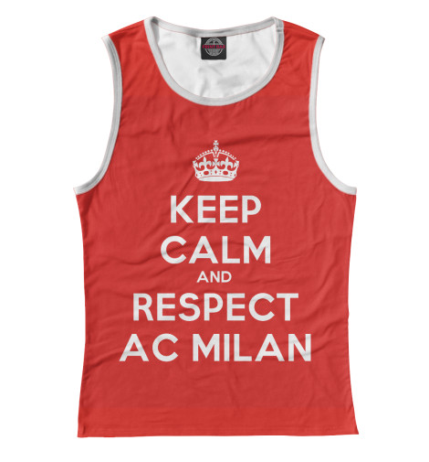 цена Майка Print Bar Respect AC Milan онлайн в 2017 году