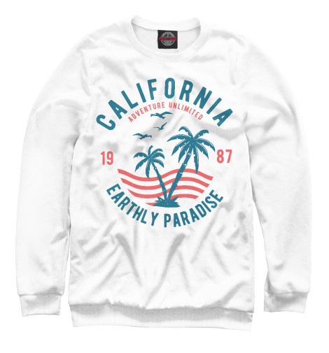 Свитшот Print Bar California Earthly Paradise свитшот print bar hu paradise lost lyr2