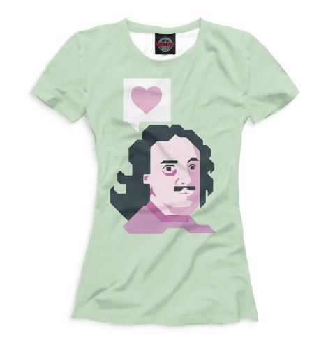 Женская футболка Петр I