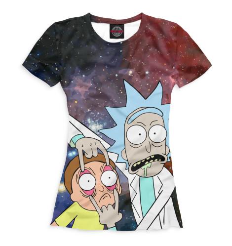 Женская футболка Рик и Морти