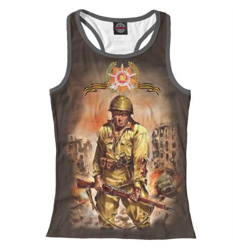 Майка борцовка Print Bar Русский солдат сергей булдыгин моонзунд 1941 русский солдат сражается упорно и храбро…