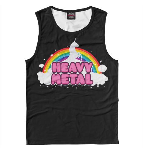 Майка Print Bar Heavy Metal Unicorn лонгслив printio heavy metal gymwear