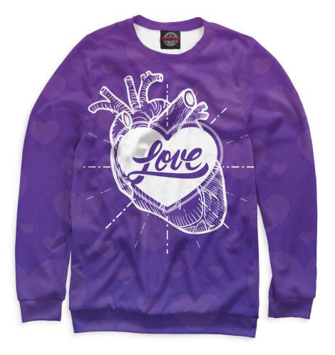 Мужской свитшот Любовь в сердце
