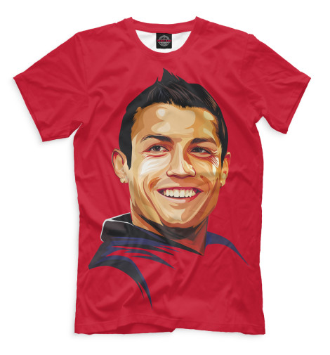 Мужская футболка Роналду портрет