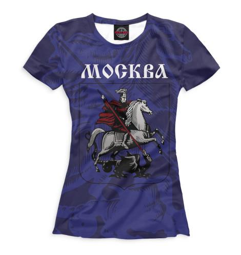Женская футболка Герб Москвы