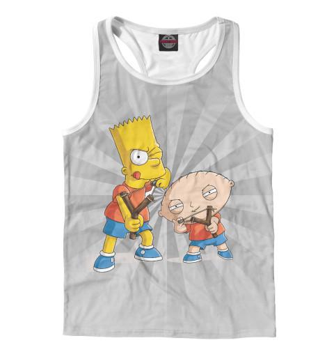 Майка борцовка Print Bar Stewie and Bart футболка print bar stewie and bart