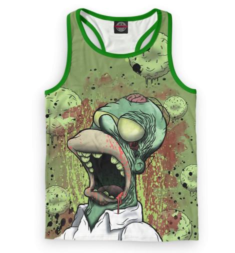 Мужская майка-борцовка Гомер-зомби