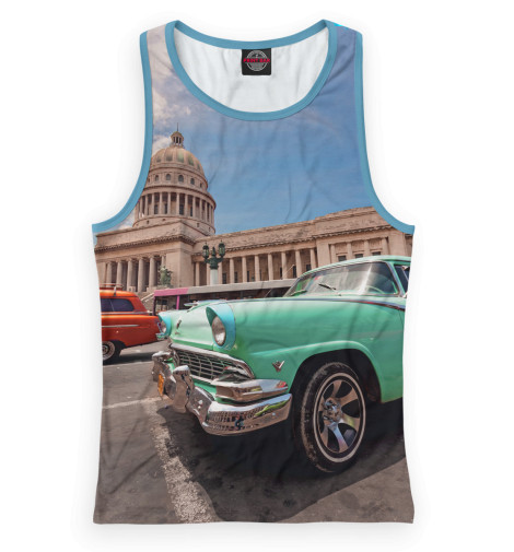 Майка борцовка Print Bar Автомобили на Кубе