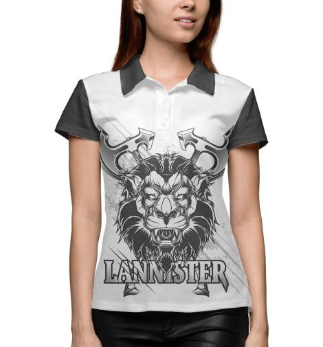 Поло Print Bar Game of Thrones lannister full hunter game of thrones pocket watch lion house lannister necklace quartz bronze cool men womens gift