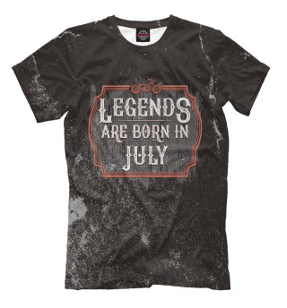 Мужская футболка Legends Are Born In July