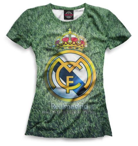 Женская футболка Герб Реал Мадрид