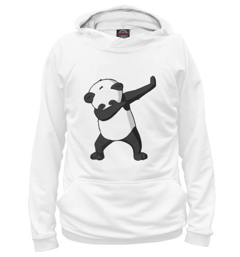 Фото - Мужское худи Panda dab от Print Bar белого цвета