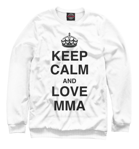 Свитшот Print Bar Keep Calm And Love MMA футболка wearcraft premium printio keep calm and manezhka green