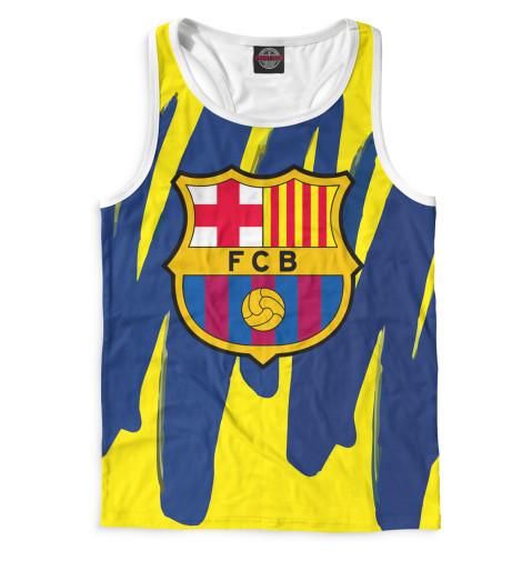 Мужская майка-борцовка Герб FC Barcelona