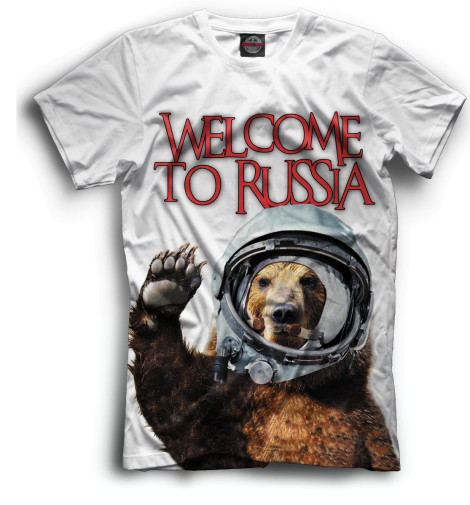 Мужская футболка Welcome to Russia