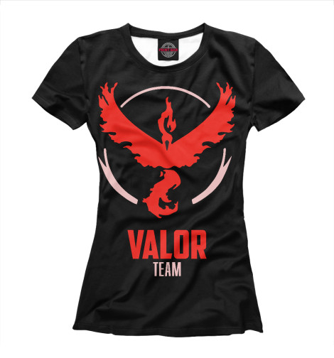 Футболка Print Bar Pokemon GO - Valor Team худи print bar just go pokemon go