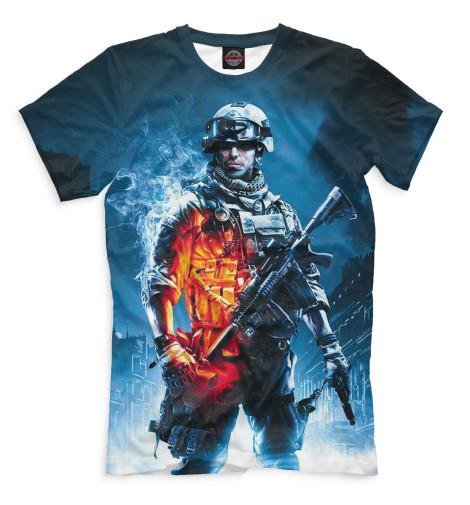 Мужская футболка Поле боя