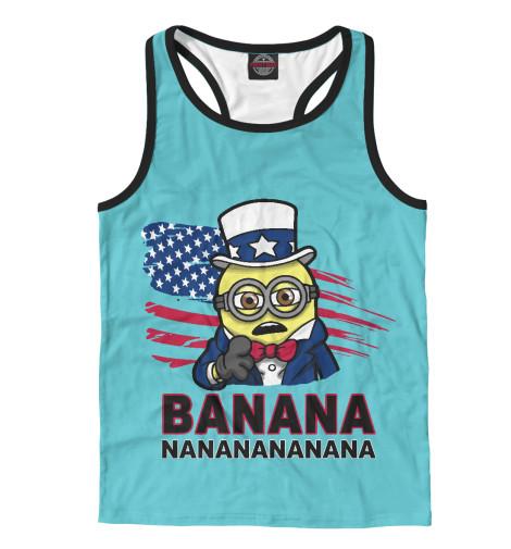 Майка борцовка Print Bar Banana USA поло print bar damask banana
