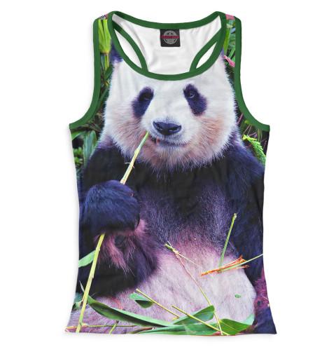 Женская майка-борцовка Панда