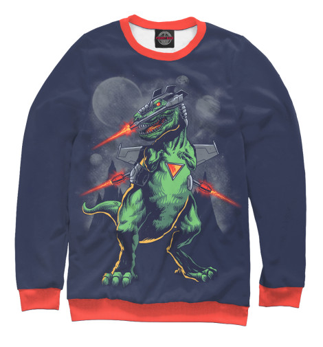 Свитшот Print Bar Звездный динозавр