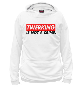 Мужское Худи twerking is not a crime