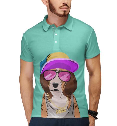 Поло Print Bar Собака, одетая в стиле хип-хоп детская одежда студенты для мальчиков хористов исполняющие джазовые танцы в стиле хип хоп