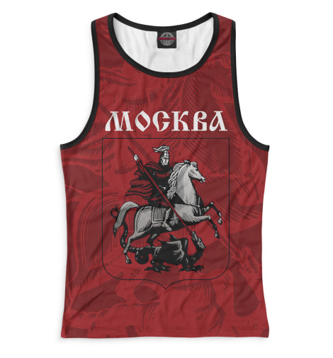 Женская майка-борцовка Герб Москвы