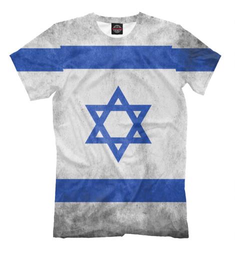Футболка Print Bar Флаг Израиля флаг пограничных войск россии великий новгород