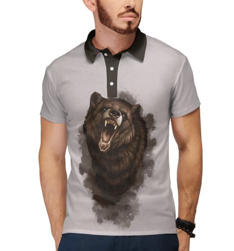 Поло Print Bar Бурый медведь