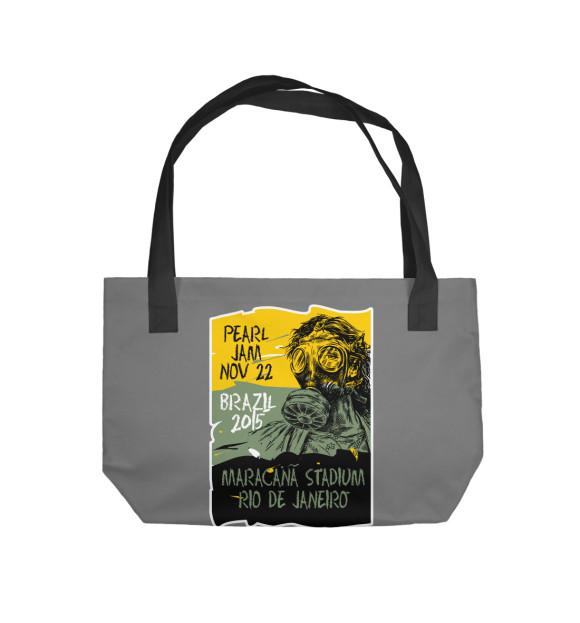 Пляжная сумка с изображением Pearl Jam цвета