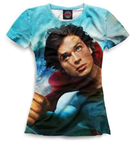 Женская футболка Кларк Кент