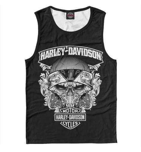 Майка Print Bar Harley-Davidson for harley davidson flstc heritage softail classic flstn softail deluxe flstf fat boy highway engine crash bar guard protector