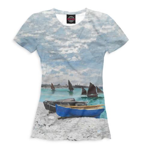Женская футболка Пляж в Сен-Адрессе