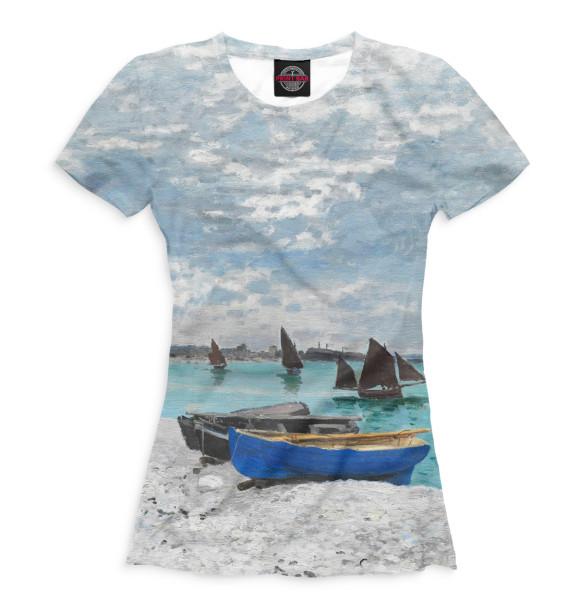 Купить Женская футболка Пляж в Сен-Адрессе GHI-920926-fut-1