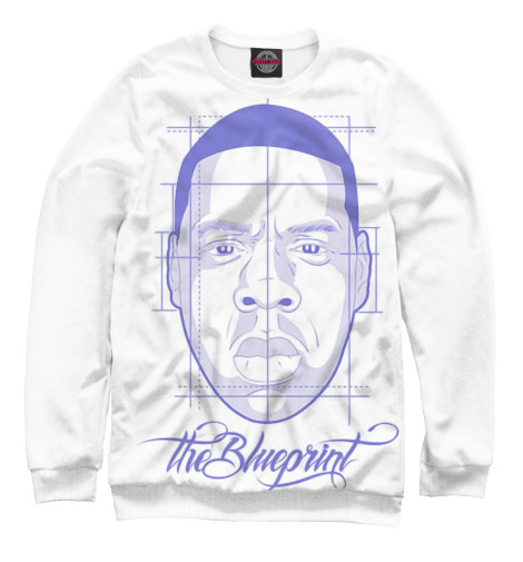 Свитшот Print Bar The Blueprint - Jay-Z свитшот print bar h u m a n z