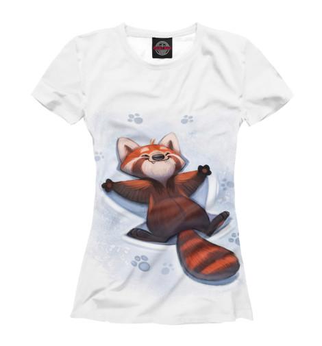 Футболка Print Bar Красная панда футболка 501 красная