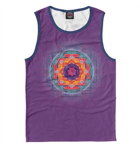 Майка Print Bar Янтра на фиолетовом фоне