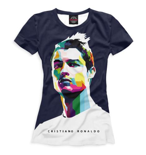 Женская футболка Роналду арт