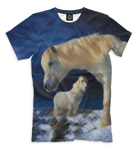 Мужская футболка Лошади