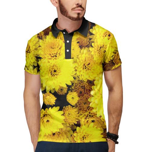 Поло Print Bar Желтые цветочки