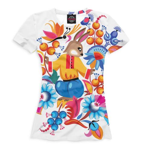 Женская футболка Русский орнамент