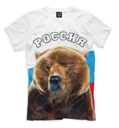 Мужская футболка Медведь подмигивает
