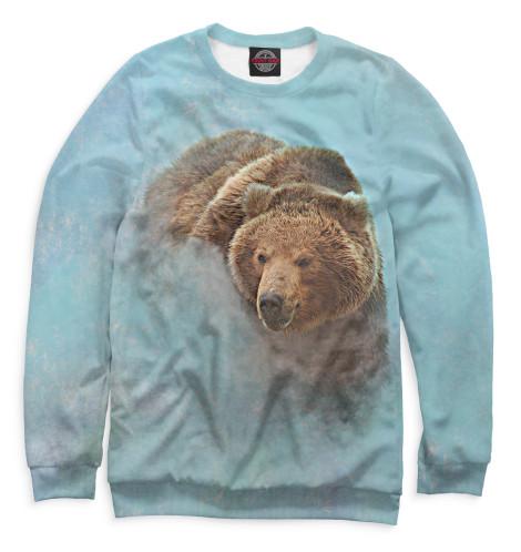 Женский свитшот Медведь в тумане
