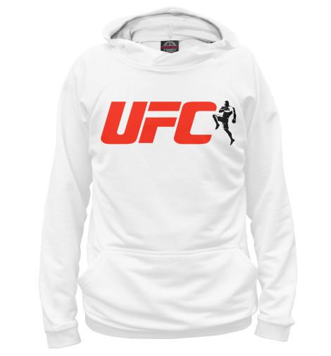 Фото - Женское худи UFC от Print Bar белого цвета
