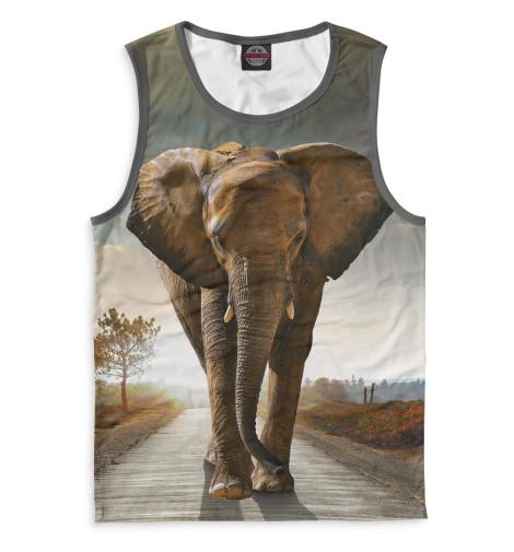 Мужская майка Слоны