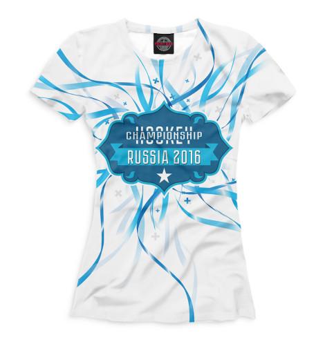 Женская футболка Россия 2016 Print Bar HOK-705373-fut-1