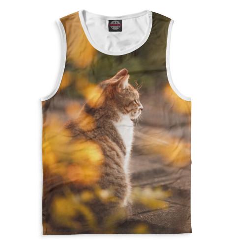 Мужская майка Осенний кот